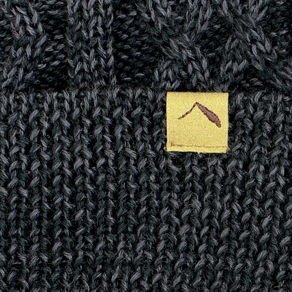 tent-Mark DESIGNS CABLE KNIT CAP【ブラック】