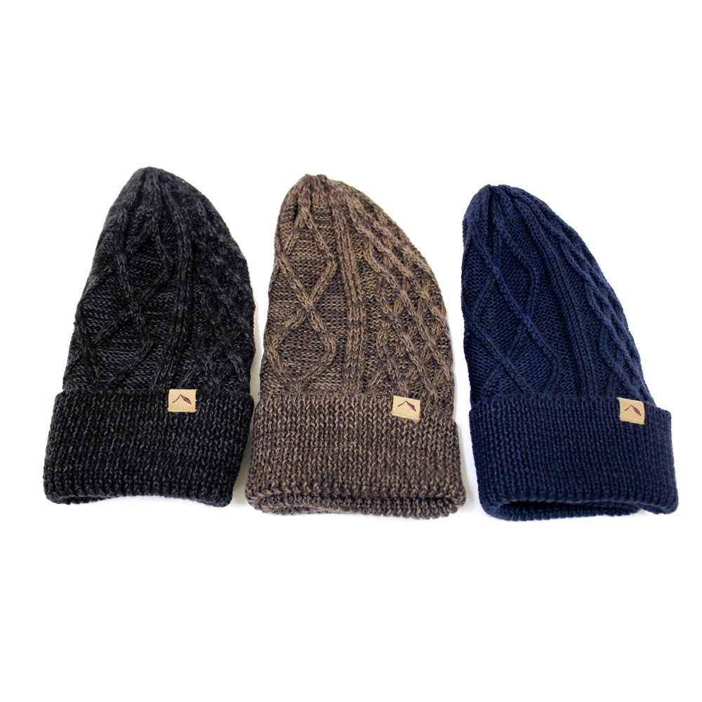 tent-Mark DESIGNS CABLE KNIT CAP【ネイビー】