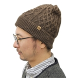 tent-Mark DESIGNS CABLE KNIT CAP【ブラウン】