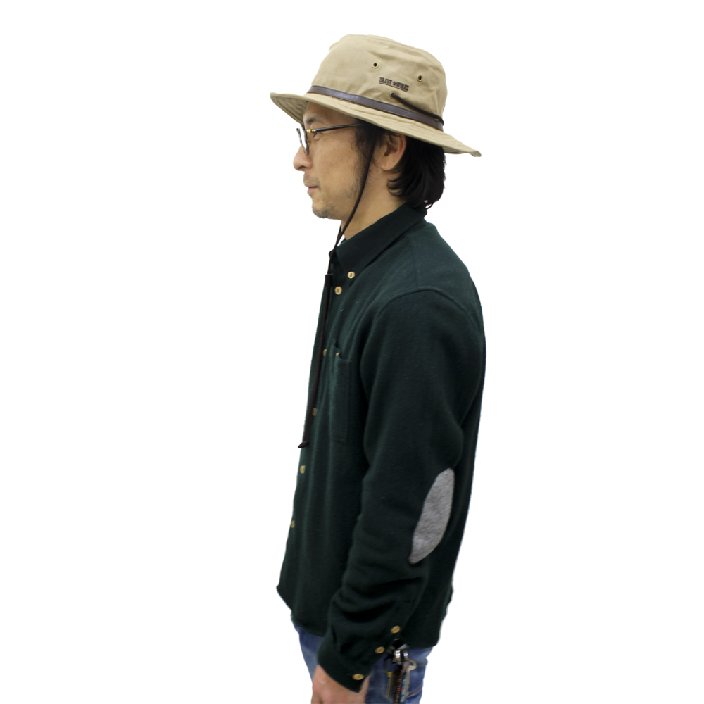 BRAVE WORKS×tent-Mark DESIGNS パラフィン キャンバス ハット【フロンティア】